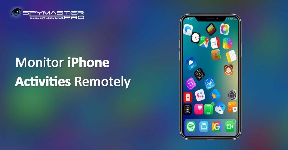 Monitor iPhone Activities Online