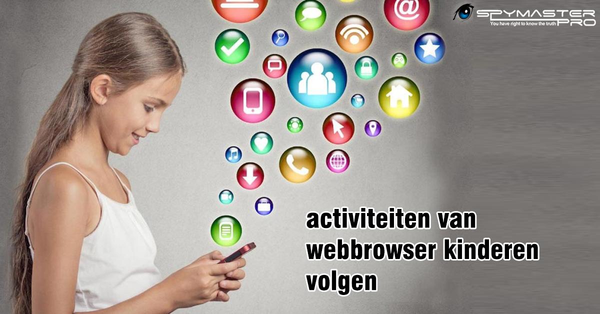 activiteiten van webbrowser kinderen volgen